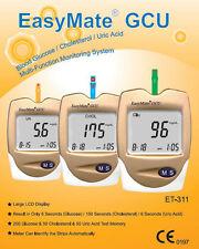 Uric Acid Test Strip Kit - 3 in 1 - & Cholesterol and Glucose - full kit & strip