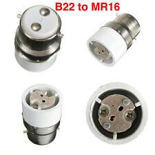 Light Bulb Socket Converter Adapter B22 to MR16 Bayonet to 2 Pin