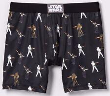 Star Wars Mens Boxer Brief Underwear All Over Print S M Black Han Solo Chewie