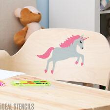 unicornio Estarcido 2 LAYER cuarto del bebé pintura decorativa pared