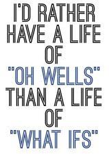 Motivacional Gimnasio cartel impresión prefiero tener una vida de Oh pozos que lo que Ie