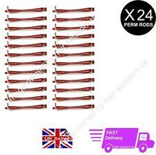 24 X barras rodillos Permanente Rulos Profesional Perming Tamaño pequeño Rojo Ladrillo Libre P&P