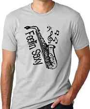 Feelin Saxy saxophone musician t-shirt Think Out Loud Apparel cool sax gift