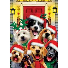 Christmas Dogs Holiday Decorative Flag