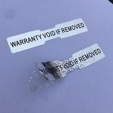ETICHETTE ADESIVE OLOGRAMMI DI GARANZIA Dogbone VUOTO etichette prova di manomissione 50 mm x 10mm