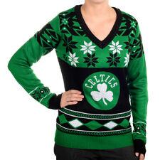 Boston Celtics Big Logo (Women's V-Neck) NBA Ugly Sweater