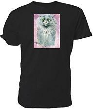 Louis Wain Blue Russian Cat T shirt - Choice of size & colours.