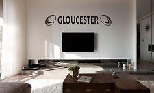 Rugby Gloucester Pared Arte Pegatina, Calcomanía, cualquier superficie plana, coche vinilo, vidrio
