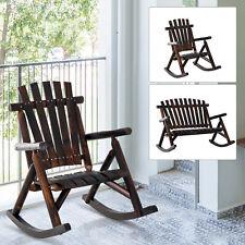 Rustic Outdoor Patio Adirondack Rocking Chair Patio Furniture Porch Rocker Fir