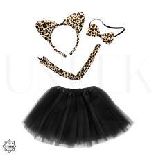 Femmes Leopard Halloween Fancy Dress Set-Wild Cat Animal Tutu Jupe Costume