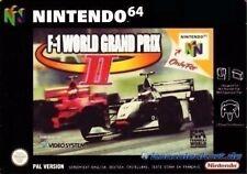 N64 f-1 World Grand Prix 2/état Sélectionnable