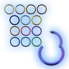 Titanium Hinged Segment Ring 1.6mm 14 gauge Grade 23 6AL-4V ELi Septum Easy Fit