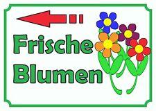 Verkaufsschild Blumen links, Schnittblumen, selber schneiden,  zu verkaufen