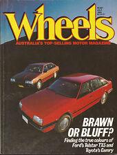 Wheels Jul 83 Telstar TX5 Camry GLi  900 Quintet Caprice W123 230E Vanden Plas