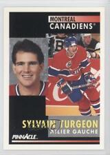 1991 Pinnacle French #226 Sylvain Turgeon Montreal Canadiens Winnipeg Jets Card