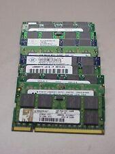 Lot of (10) Mixed  Brand 1GB DDR-2 SODIMM PC4200-PC6400 Non-ECC