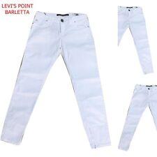 jeans pantalone donna elasticizzato miss sixty jlot zip alla caviglia bianco W29