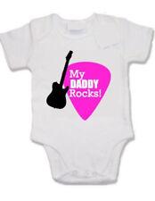 Customised baby vest - My Daddy Rocks, guitar pick plectrum, music metal, rock,