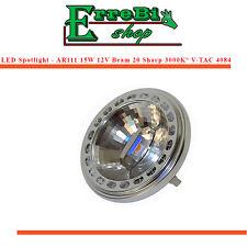 LAMPE AMPOULE LED SPOTLIGHT AR111 15W 3000K° SHARP CHIP FAISCEAU LUMINEUX 20°