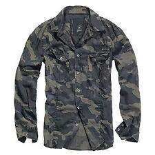 Brandit - SlimFit Camiseta Darkcamo Camisa Outdoor Camuflaje