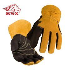 Black Stallion BSX Premium Grain Pigskin Cowhide Back MIG Welding Gloves  BM88