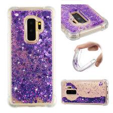 Purple Armor Quicksand Glitter Liquid hard Cover Case For Samsung S8 S9 S7 LG
