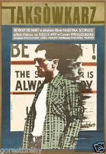 TAXI DRIVER Movie Poster Robert Deniro Travis Bickle Polish Art