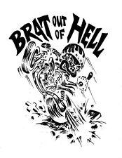 Baby Biker/Toddler Slogan Clothing - Brat Out Of Hell  -  Babygrow