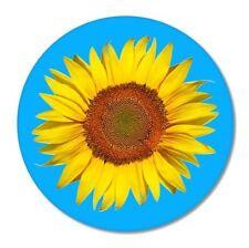Sunflower Blue Circle Car Vinyl Sticker - SELECT SIZE