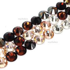 144 Swarovski 2058/2088 crystal flatbacks rhinestones BROWN & PEACH Colors Mix
