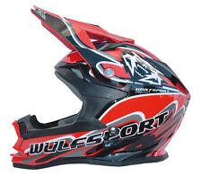 Wulf Wulfsport Kids Childrens Quad Cub MX Motocross NEW K2 ECE Helmet Red T