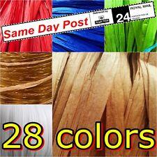 RAFIA Papel Cinta Muchos Colores Longitudes Rojo Dorado Verde Decoración Regalos