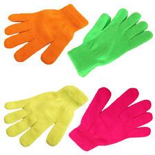 Sonia Originelli Strickhandschuhe Fingerhandschuhe Uni Neon knallig Unisex Neu
