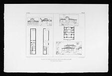 Debret Brazil Print - Plans and Elevations of Villa & Townhouse - Rio de Janeiro