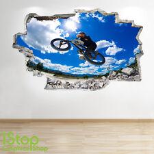 Bmx Pared Adhesivo 3D Look-Niños Niños Dormitorio Extreme Stunt la etiqueta de la pared Z58