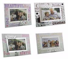 """Family 3D Glass Birthday Father's Da Photo  Frame (6""""X 4"""") -  Grandad,  Dad"""