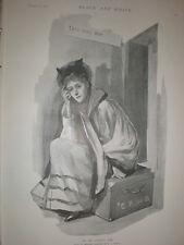 Para ser llamado para R C Bunny 1895 antiguos impresión mujer esperando en la estación de tren