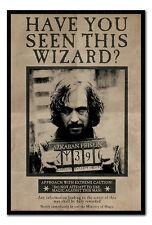 Harry Potter quería Sirious Negro Magnético aviso Placa incluye imanes