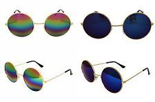 Unisex design recente Hippie Stile Occhiali Occhiali da sole rotondi lente i