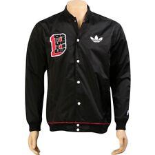 $150 Adidas NBA Chicago Bulls Button up Varsity Jacket black rose superstar