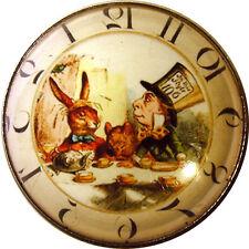 Alice Wonderland Crystal Dome Button Lg Sz  AC5 Clocks! FREE US SHIPPING