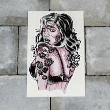 Tattoo Pin Up Girl Sticker - Decal - 203mm x 127mm