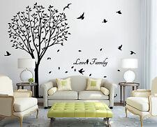 X-Large Family Tree Bird Wall Quote Art Wall Stickers UK   SH188