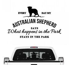 Australian Shepherd Aufkleber Vintage Hundeaufkleber Hundemotiv Aussie