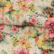 ♥ Jersey BUNT Blumenranke ♥ Stoff Baumwolle Meterware 50x150