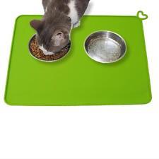 1xSquare Waterproof Pet Food Mat Silicone Dog Cat Bowls Non-Slip Feeding Mat Y