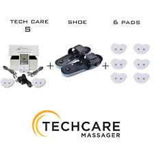 Portable Tens Massager Unit + 6 Extra Pads + Shoe Pain Sciatica Relief Treatment