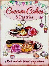RETRO METAL PLAQUE :Cream Cakes & Patries sign/ad