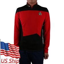 Cosplay Star Trek Shirt Starfleet Command Uniform Cos Star Trek Tng Uniform Red