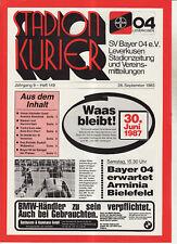 BL 83/84 Bayer 04 Leverkusen - Arminia Bielefeld